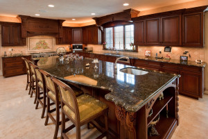 Why not add a theme to your kitchen? Notice the counter with a an elegant marble finish which complements the entire room