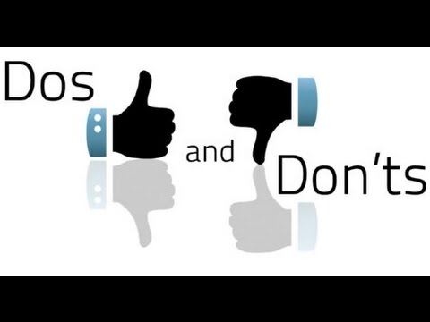 do and dont